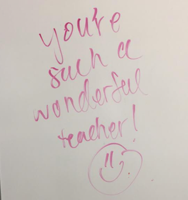 Pictures of whiteboard notes from students.