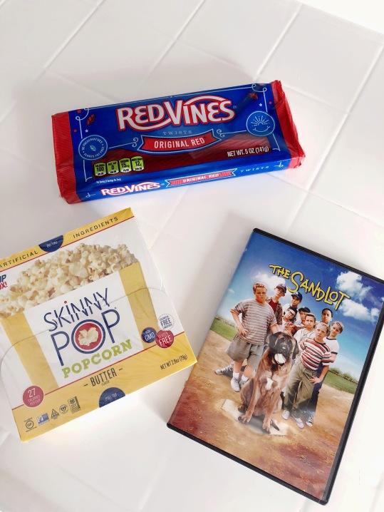 Classic movie snacks for a classic baseball film.