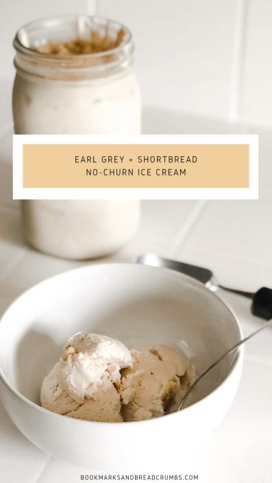 Earl Grey and Shortbread Ice Cream