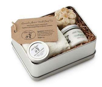 Farm Fresh Spa Tin ($32) - https://www.uncommongoods.com/product/farm-fresh-spa-experience-tin