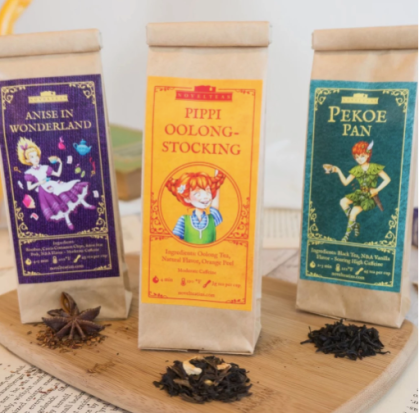 Novelteas Children's Favorite Collection - They have some very cute (and delicious) options for book and tea lovers.($18) - https://novelteatins.com/collections/all/products/childrens-favorite-collection-tea-samplers