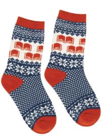 Unisex Winter Reading Socks ($14) - https://outofprint.com/products/winter-reading-socks
