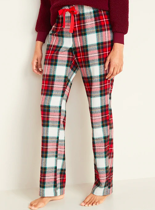 Flannel Pajama Bottoms for Women - They have lots of patterns and men's options to choose from ($17) - https://oldnavy.gap.com/browse/product.do?pid=449821062&pcid=999#pdp-page-content