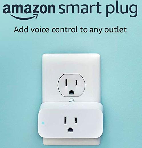 Amazon Smart Plug ($25) - https://www.amazon.com/Amazon-Smart-Plug-works-Alexa/dp/B01MZEEFNX/ref=as_li_ss_tl?crid=1HPOI8LF7FWKT&keywords=smart+plug&qid=1574225086&sprefix=smart,aps,325&sr=8-1-spons&psc=1&spLa=ZW5jcnlwdGVkUXVhbGlmaWVyPUEyNlRJU1pHUkxFTlRUJmVuY3J5cHRlZElkPUEwMjI5NDYyMkgwSVE1SVdaRzhQNyZlbmNyeXB0ZWRBZElkPUEwMzgzNzgxMTFPTFdYUEE0WTYwRSZ3aWRnZXROYW1lPXNwX2F0ZiZhY3Rpb249Y2xpY2tSZWRpcmVjdCZkb05vdExvZ0NsaWNrPXRydWU=&linkCode=ll1&tag=bookmarksandb-20&linkId=2630636cf4a8b33399cedd60d982b4ce&language=en_US