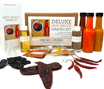 Grow and Make Your Own Hot Sauce ($40) - https://www.amazon.com/Grow-Make-Deluxe-Sauce-Making/dp/B00BM6US9Y/ref=as_li_ss_tl?ie=UTF8&linkCode=ll1&tag=bookmarksandb-20&linkId=43e2f09b8939921110aa82245420b1a9&language=en_US