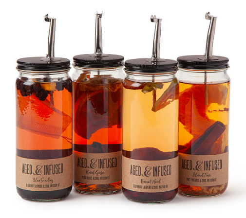 Infuse and Pour Alcohol Kit ($25) - https://www.uncommongoods.com/product/infuse-pour-alcohol-kit