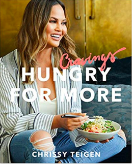 Cravings: Hungry for More Cookbook - I have her first cookbook and love it ($17) - https://www.amazon.com/Cravings-Hungry-More-Chrissy-Teigen/dp/1524759724/ref=as_li_ss_tl?crid=396WUIQLL408J&keywords=cravings+cookbook+chrissy+teigen&qid=1574280951&sprefix=cravings,aps,186&sr=8-2&linkCode=ll1&tag=bookmarksandb-20&linkId=3e9ae59de7fce16e69c45dc393d587fd&language=en_US
