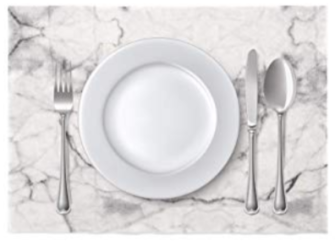 Set of 8 Stain Resistant Marble Placemats - also available in many other patterns($35) - https://www.amazon.com/DAY-DRAP-Placemats-Stain-Resistant-Non-Slip/dp/B07QN3WK89/ref=as_li_ss_tl?keywords=cloth+marble+placemat&qid=1574281489&sr=8-10&linkCode=ll1&tag=bookmarksandb-20&linkId=af601a89ca8c395f537895df6292be62&language=en_US