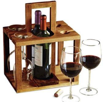 Wine Bottle and Glass Caddy ($25) - https://www.amazon.com/dp/B07BQ7LK6D/ref=as_li_ss_tl?&ascsub&linkCode=ll1&tag=bookmarksandb-20&linkId=6d44aec5bb61e62303e3f38afb3c5e4a&language=en_US