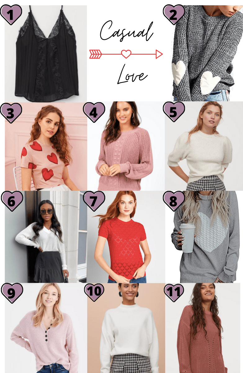 Casual Valentine's Day Tops